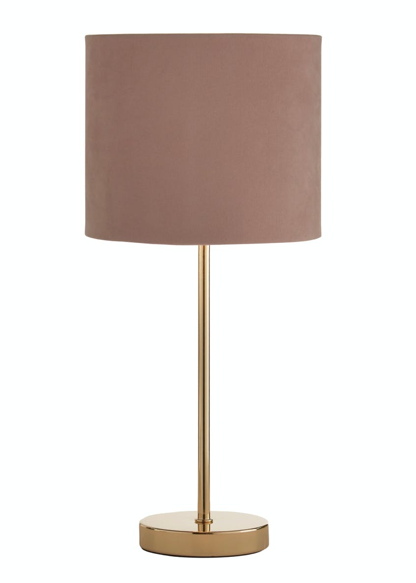 Ada Velvet Table Lamp (H41cm x W18cm)