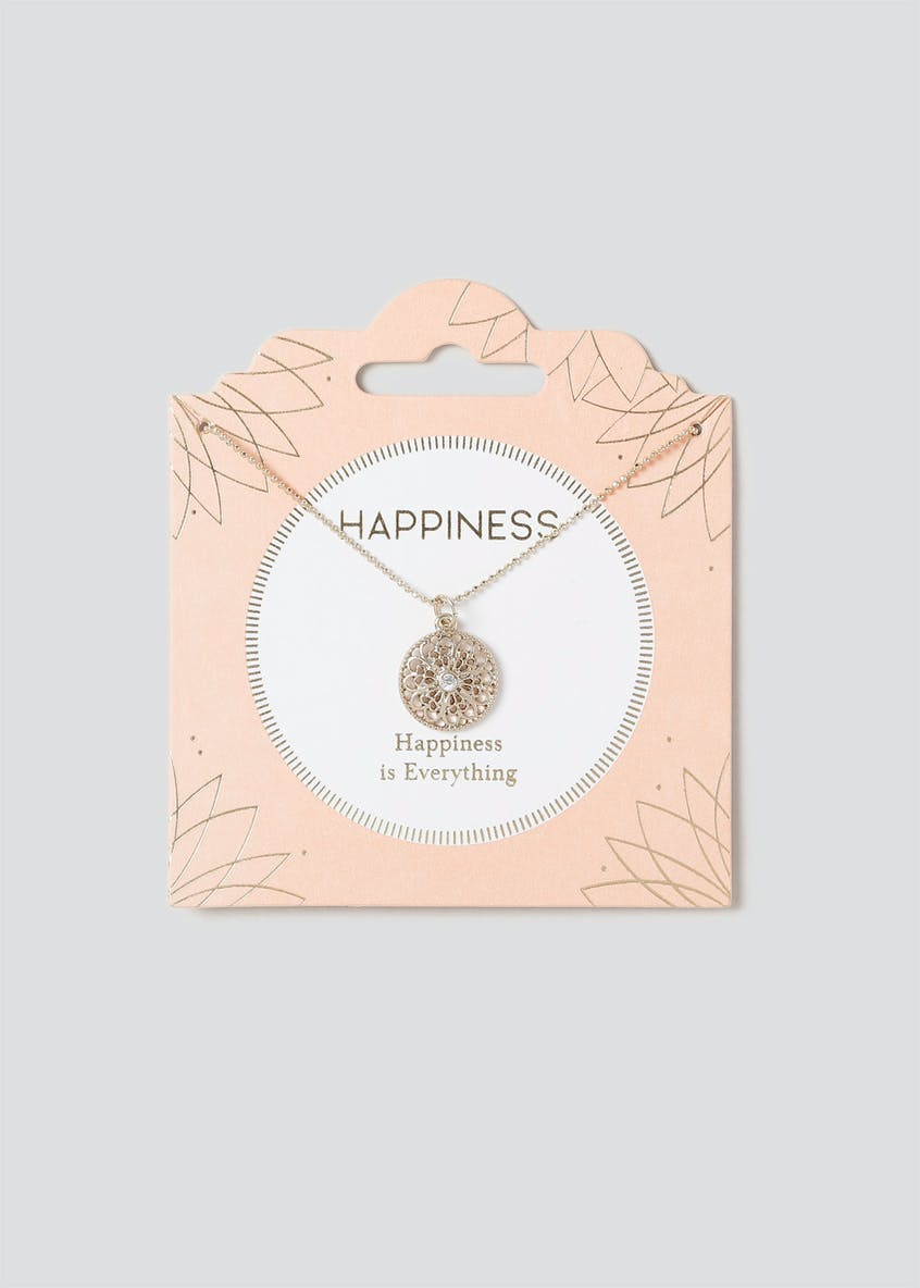 Happiness Circle Ditsy Necklace