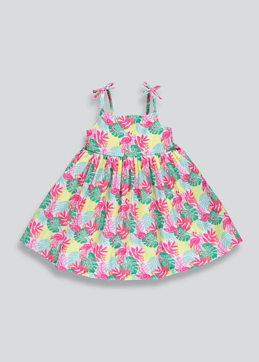 Girls Flamingo Strappy Dress (9mths-6yrs)