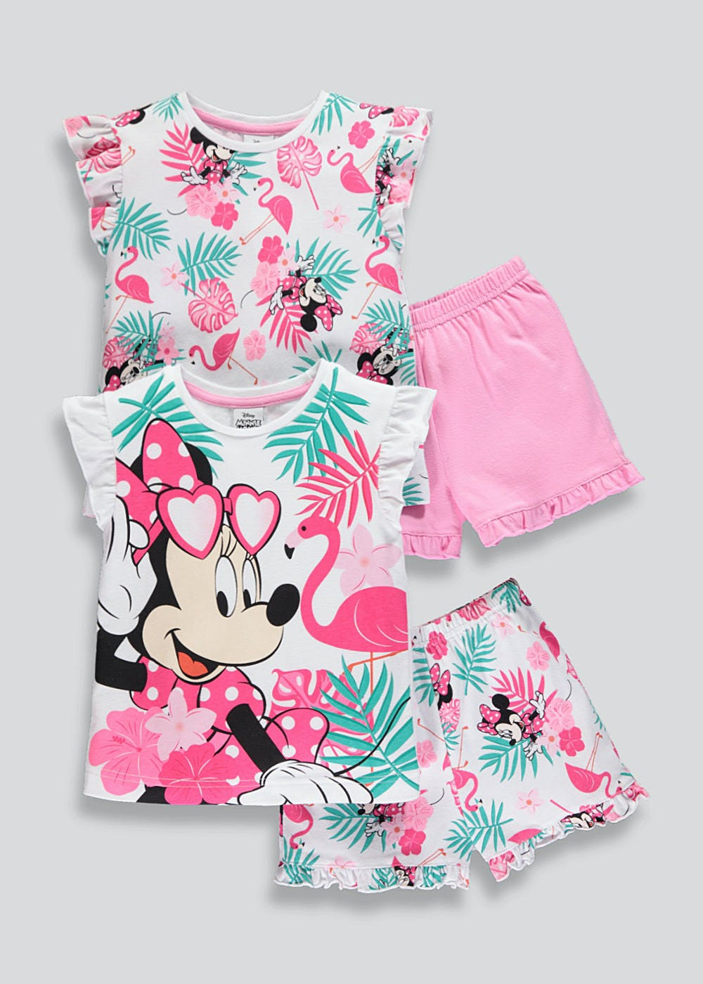 1ab02d957d2b Girls 2 Pack Disney Minnie Mouse Pyjamas (9mths-6yrs) – Multi – Matalan