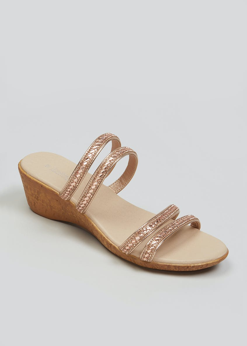 Soleflex Embellished Wedge Sandals