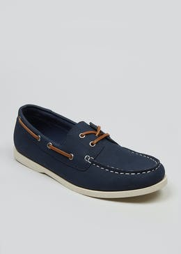 Faux Suede Boat Shoes