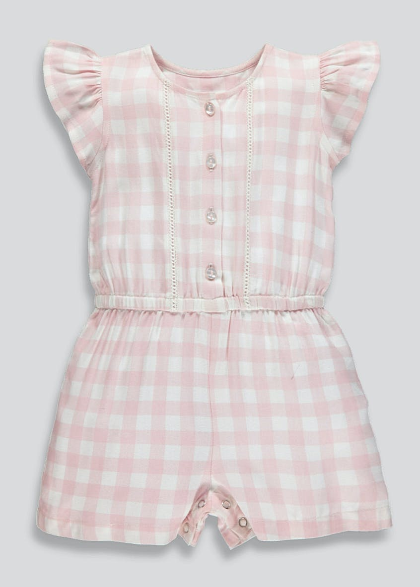 Girls Gingham Playsuit (9mths-6yrs)
