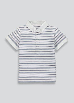 Boys Short Sleeve Jacquard Polo Shirt (9mths-6yrs)
