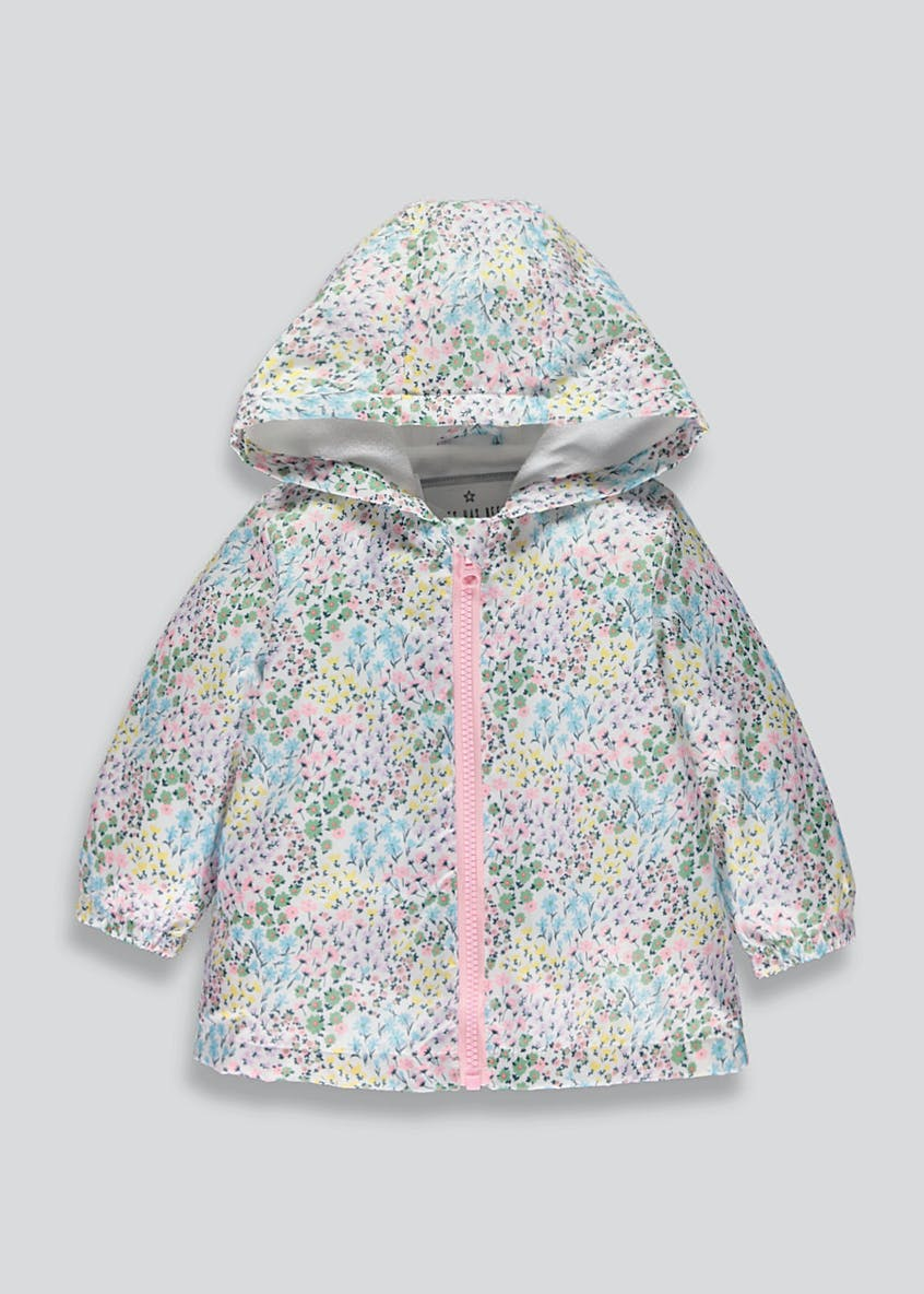 Girls Floral Mac (9mths-6yrs)