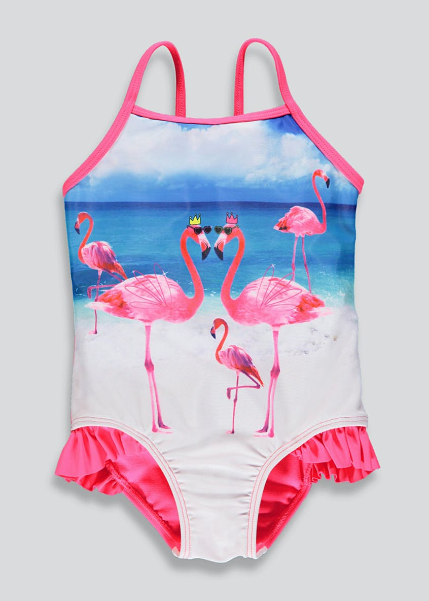 Girls Flamingo Swimming Costume (9mths-6yrs)