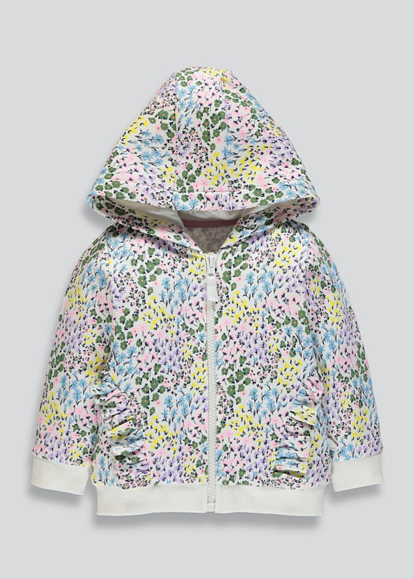 Girls Floral Frill Hoodie (9mths-6yrs)