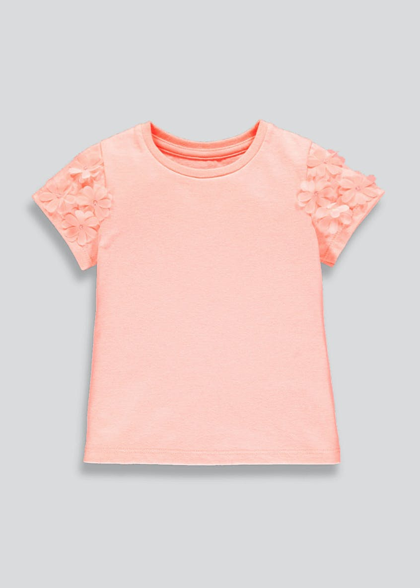 Girls Flower Appliqu? T-Shirt (9mths-6yrs)