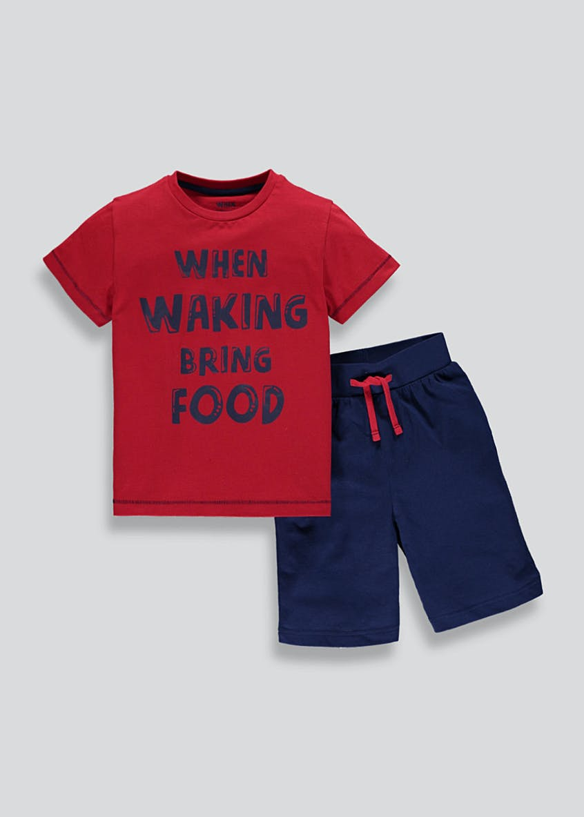 Kids Food Slogan Short Pyjamas (2-13yrs)