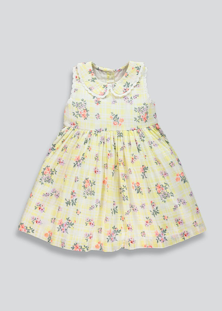 Girls Peter Pan Collar Floral Dress (9mths-3yrs)