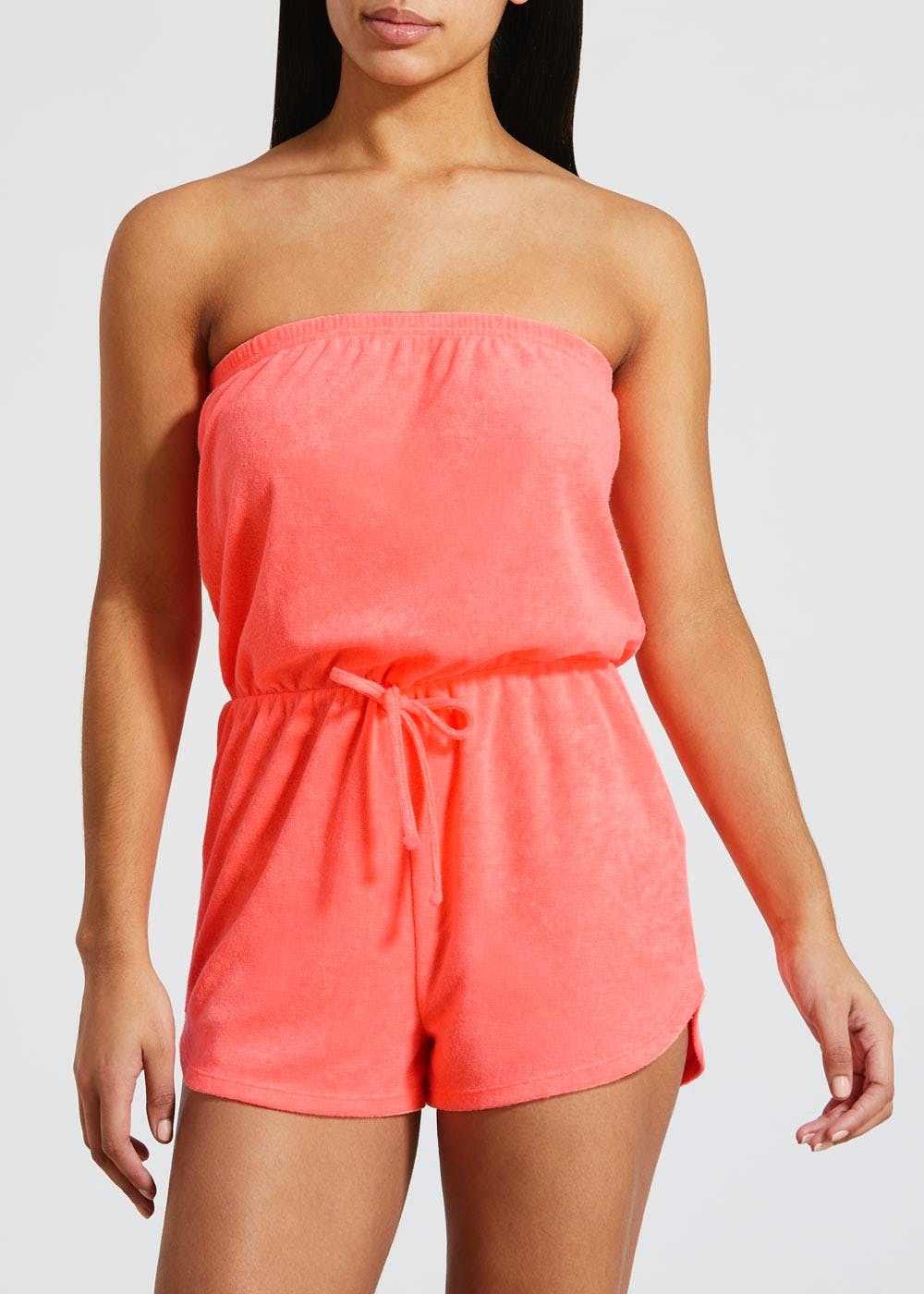 f2071c3528 Bandeau Towelling Playsuit – Coral – Matalan