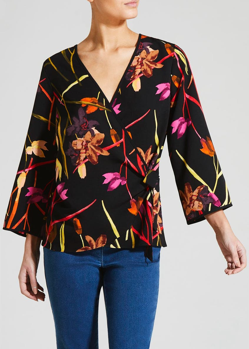 Soon Tulip Wrap Front Blouse