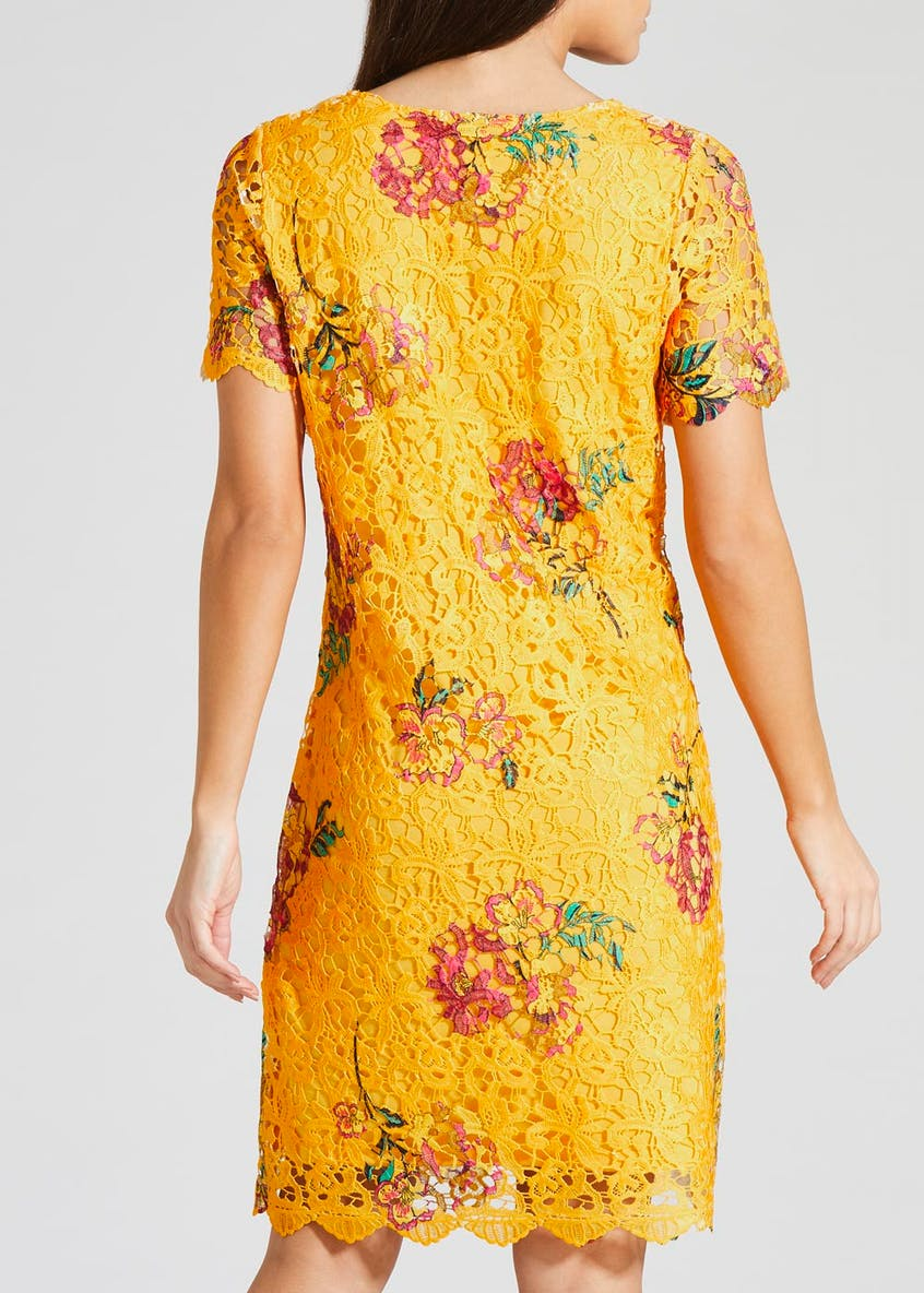 Floral Lace Short Sleeve Dress