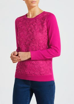 Soon Leaf Lace Jumper