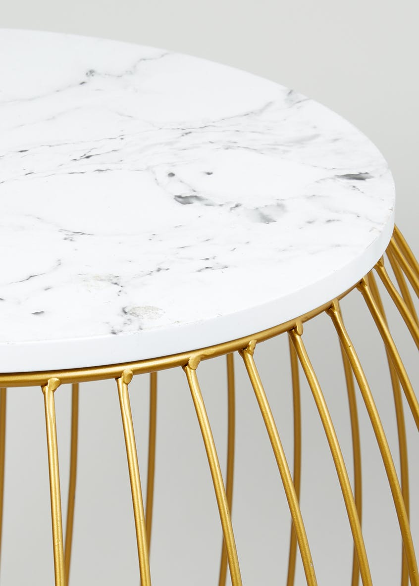 Nina Marble Side Table (H48cm x W45cm)