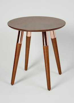 Rafe Walnut Side Table (H48cm x W45cm)