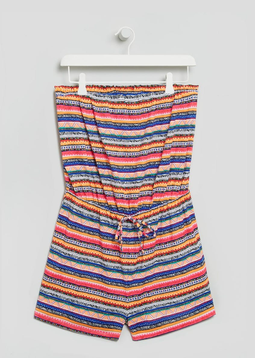 Aztec Stripe Bandeau Playsuit