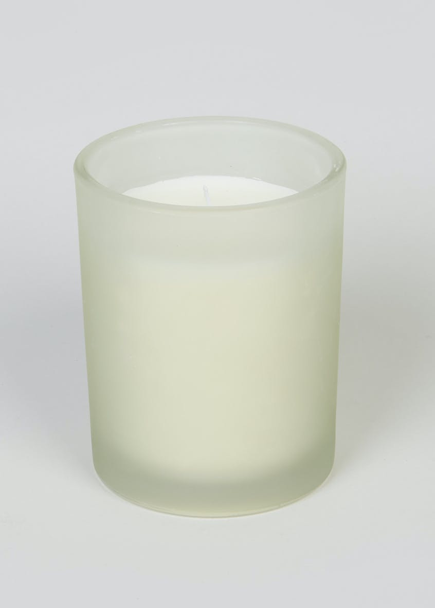 Aloe Vera & Cucumber Frosted Candle (10cm x 8cm x 8cm)
