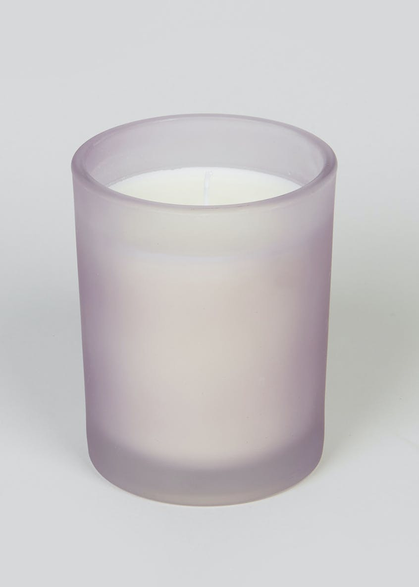 Lavender & Neroli Frosted Candle (10cm x 8cm x 8cm)