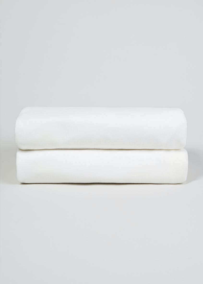 2 Pack Cot Bed Sheets (140cm x 70cm)
