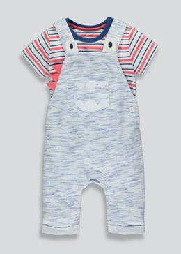 9f42fb958400 Unisex Dungarees & T-Shirt Set (Newborn-18mths)