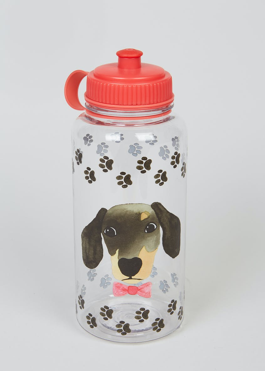 Dog Print Water Bottle (23cm x 9cm)