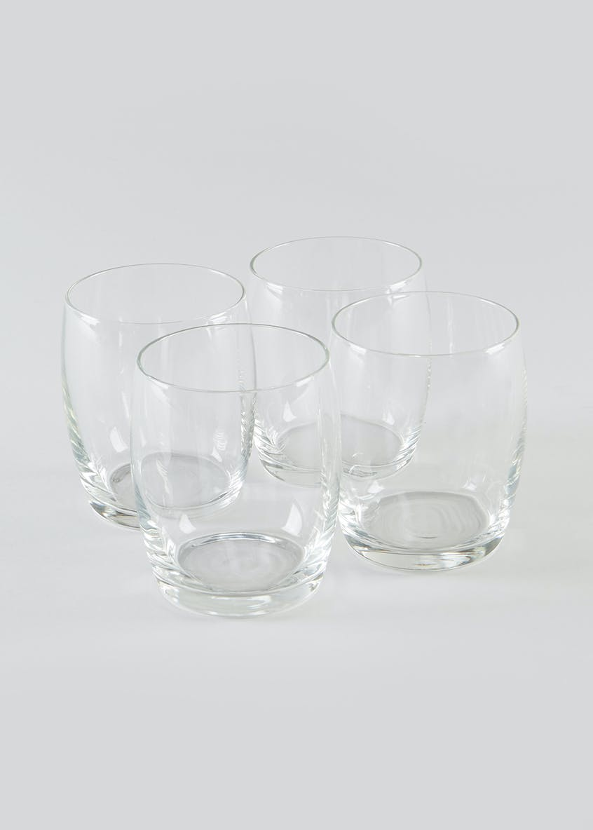 4 Pack Tumbler Glasses (10cm x 6cm)