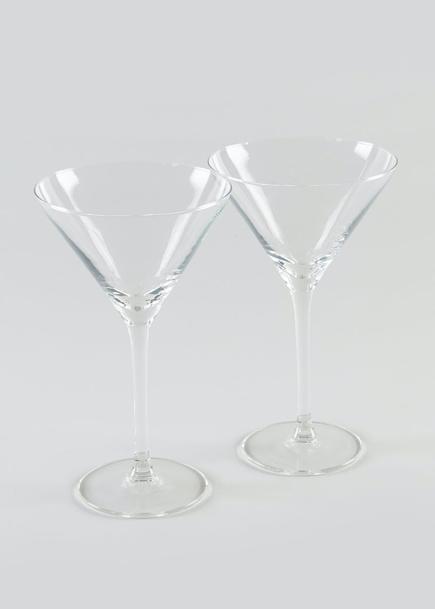2 Pack Martini Glasses (17cm x 9cm)