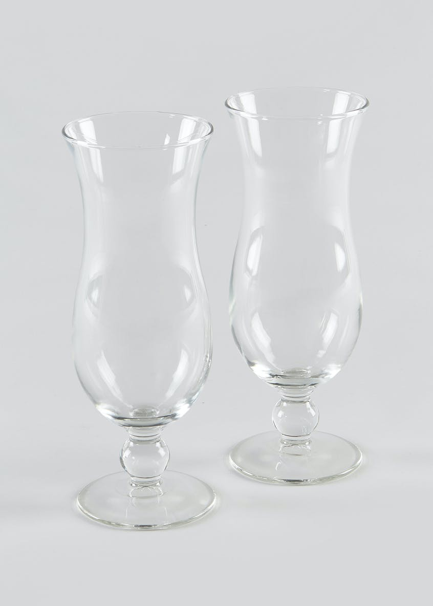 2 Pack Hurricane Glass Set (20cm x 6cm)