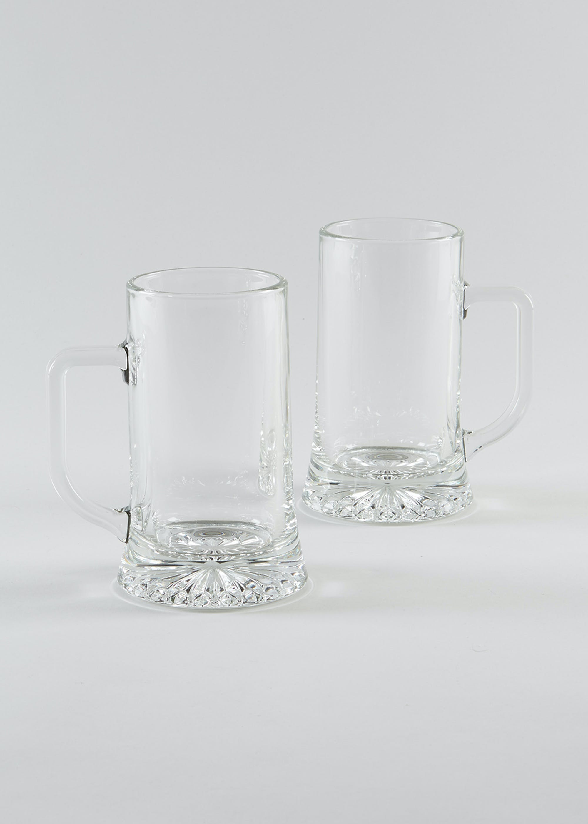 2 Pack Beer Glasses (15cm x 8cm) Clear dO1rCC