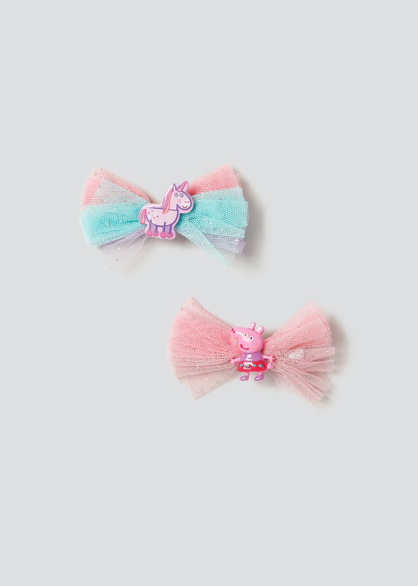 Peppa Pig Bow Clips
