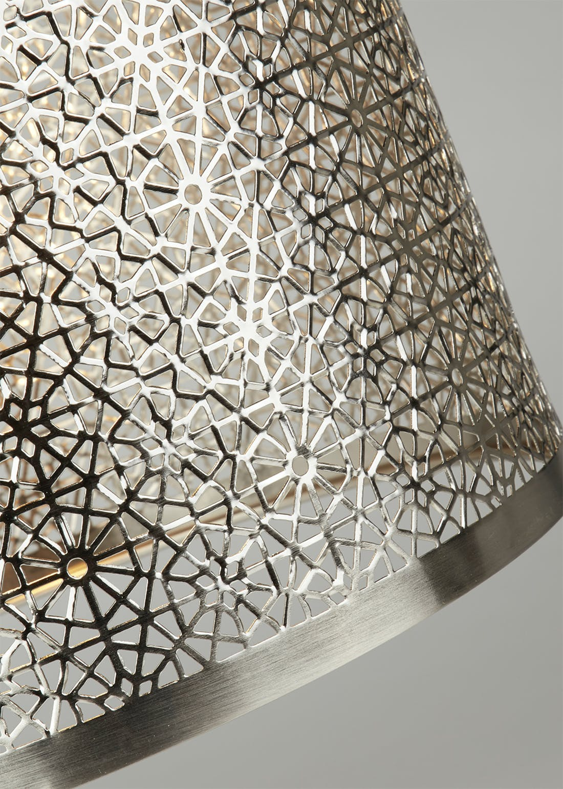 Mae Fretwork Drum Easy Fit Lamp Shade (W25.5cm x H21cm)