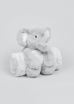 Elephant Toy & Blanket Set (One Size)