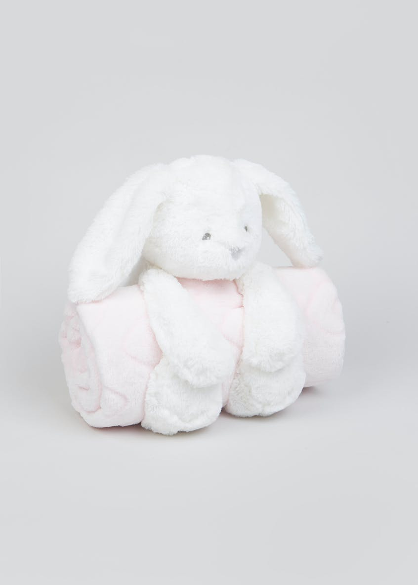 Rabbit Toy & Blanket Set (One Size)