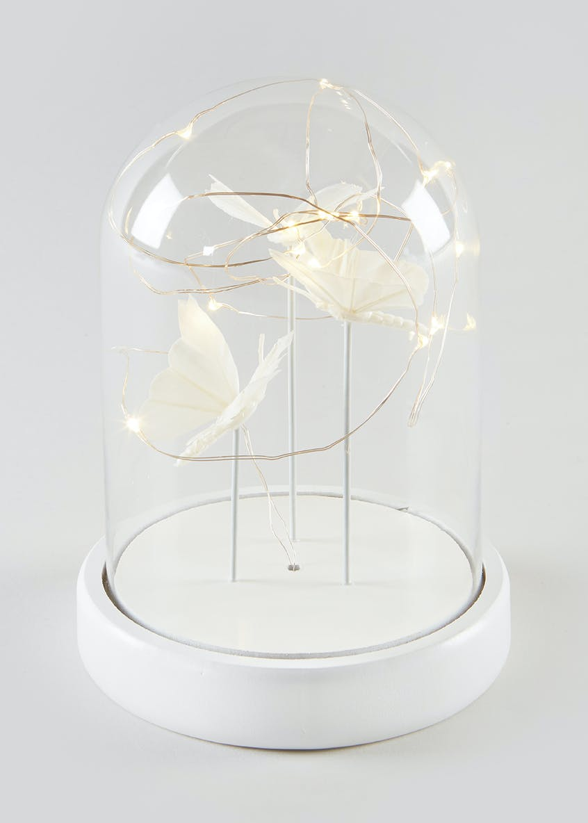 LED Butterfly Glass Dome (25cm x 14cm x 14cm)