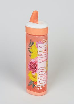 Good Vibes Slogan Water Bottle (24cm x 7cm)