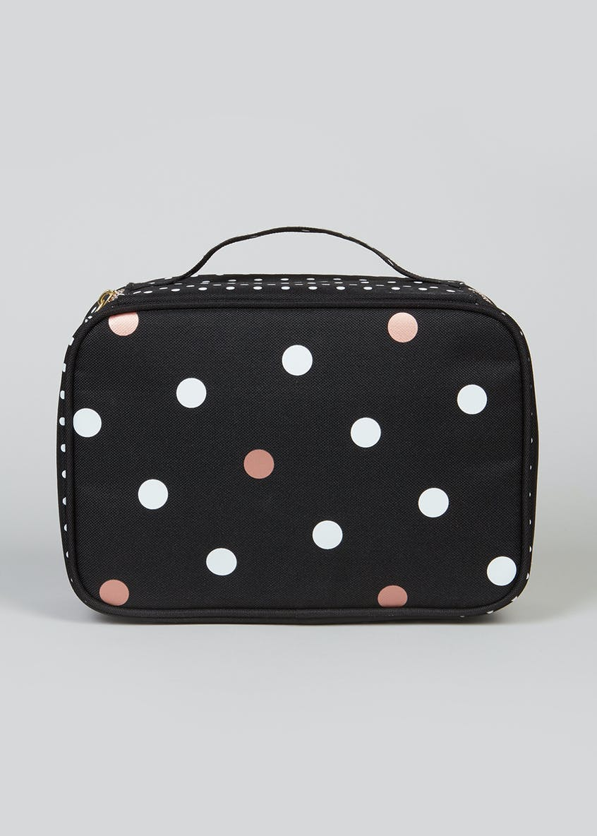 Polka Dot Lunch Bag (24cm x 17cm x 9cm)