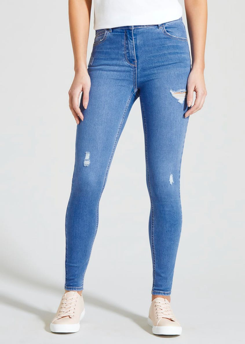 April Distressed Super Skinny Jeans