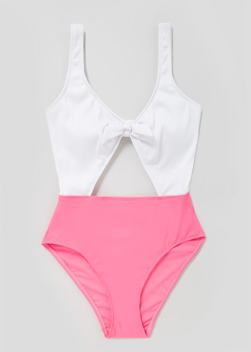 Ribbed Cut Out Swimsuit