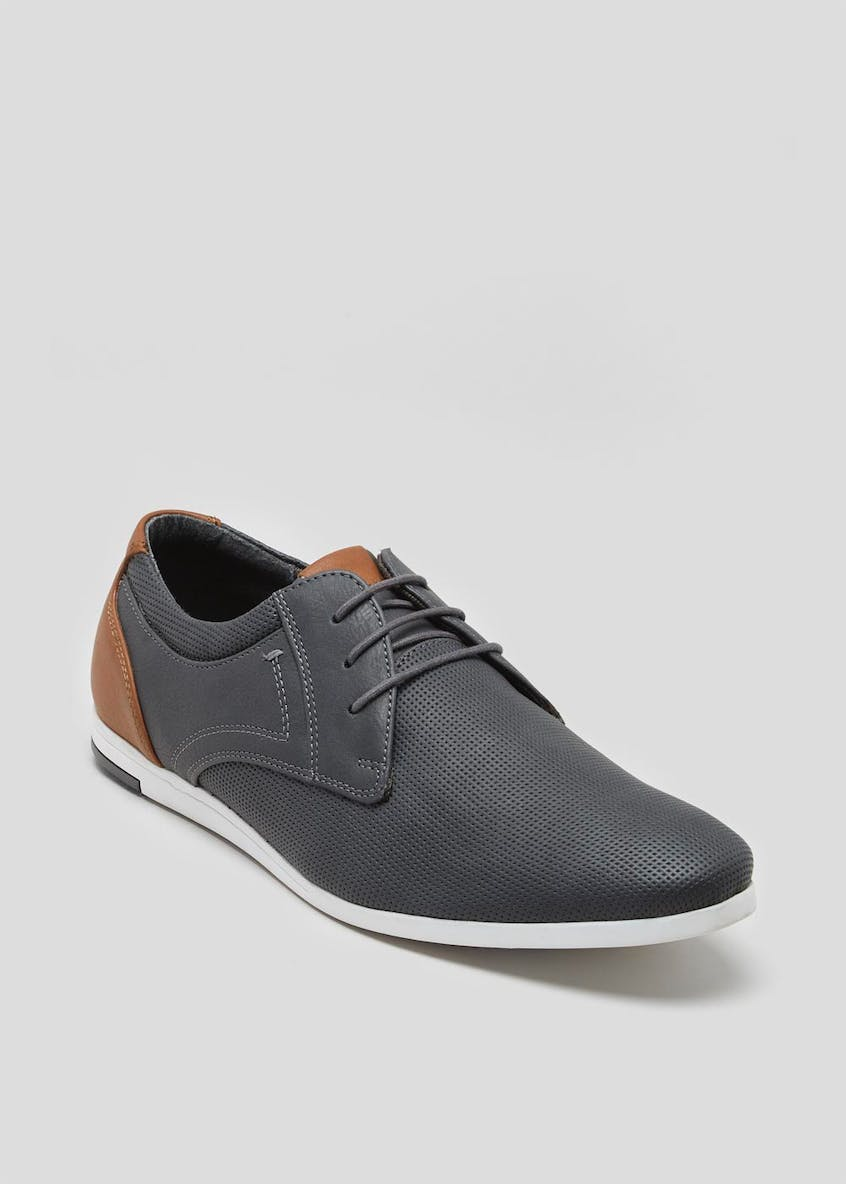 Perforated Casual Gibson Shoes