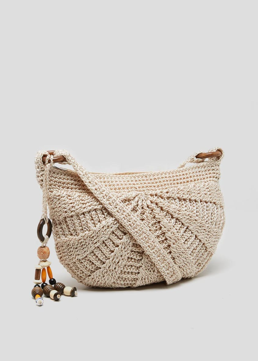 Crochet Moon Cross-Body Bag