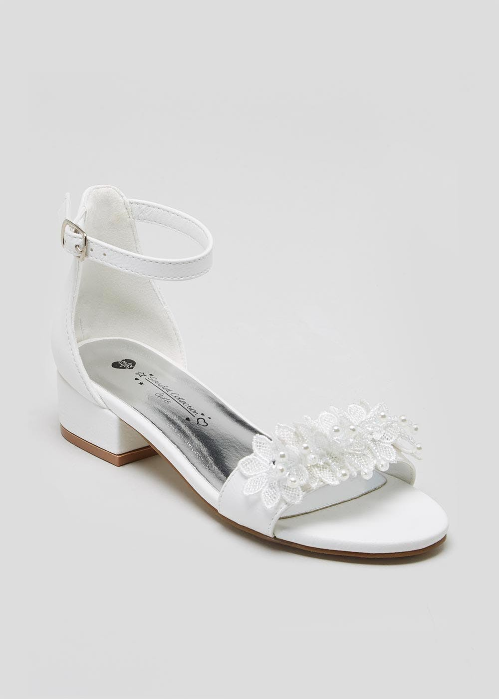Girls White Occasion Sandals (Younger