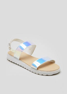 Girls Iridescent Strap Sandals (Younger 10-Older 5)