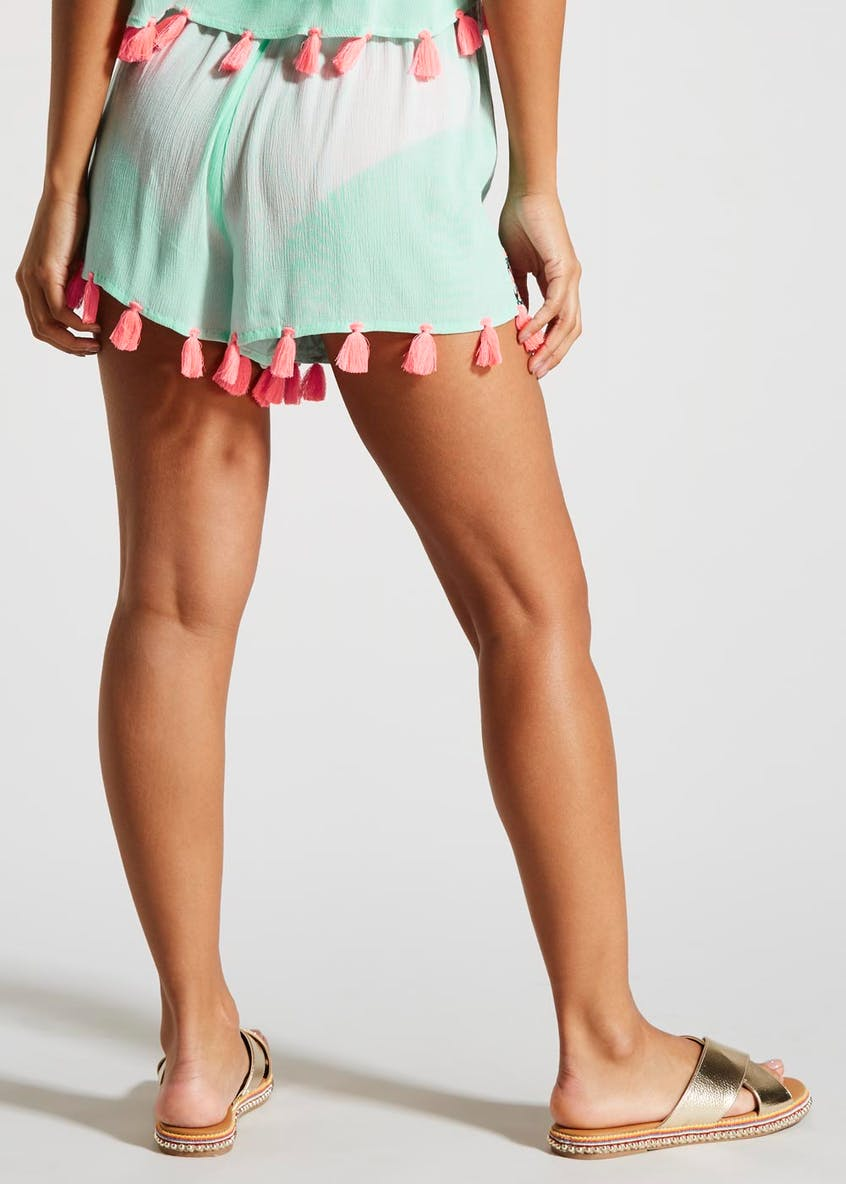 Tassel Embroidered Shorts