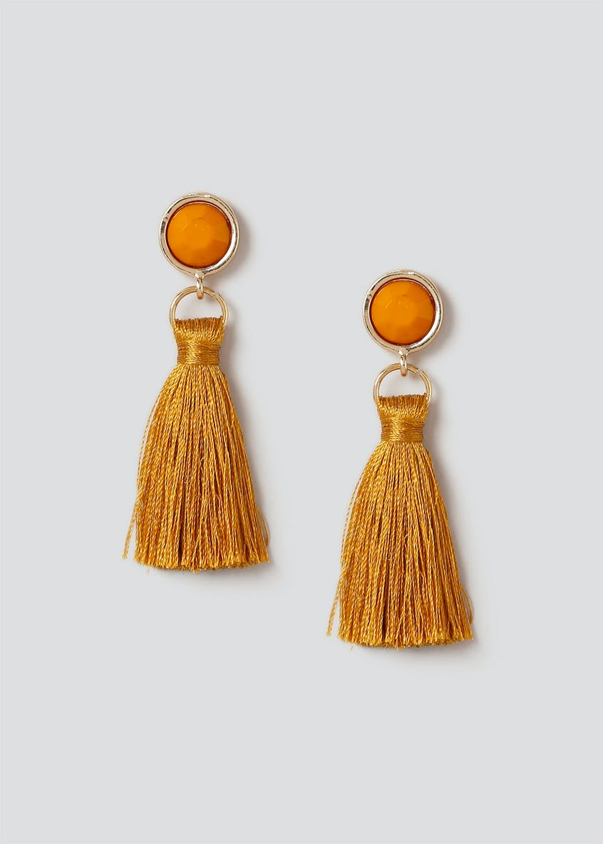 Facet Tassel Drop Earring