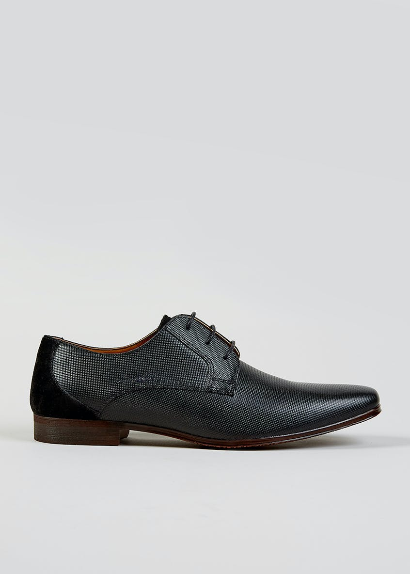 Real Leather Embossed Chisel Gibson Shoes