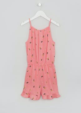 Girls Candy Couture Floral Playsuit (9-16yrs)