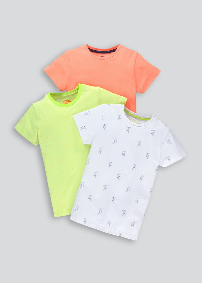 Kids 3 Pack Toucan T-Shirts (4-13yrs)