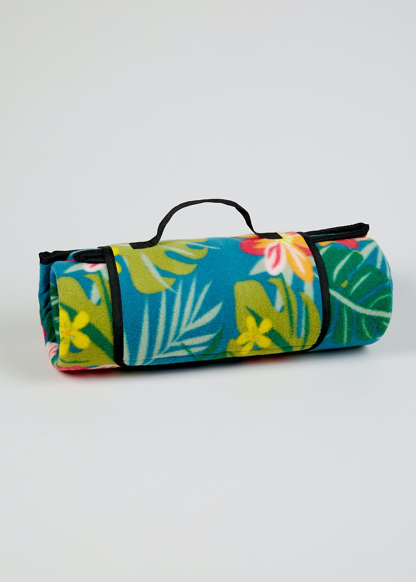 Tropical Leaf Picnic Blanket (180cm x 150cm)