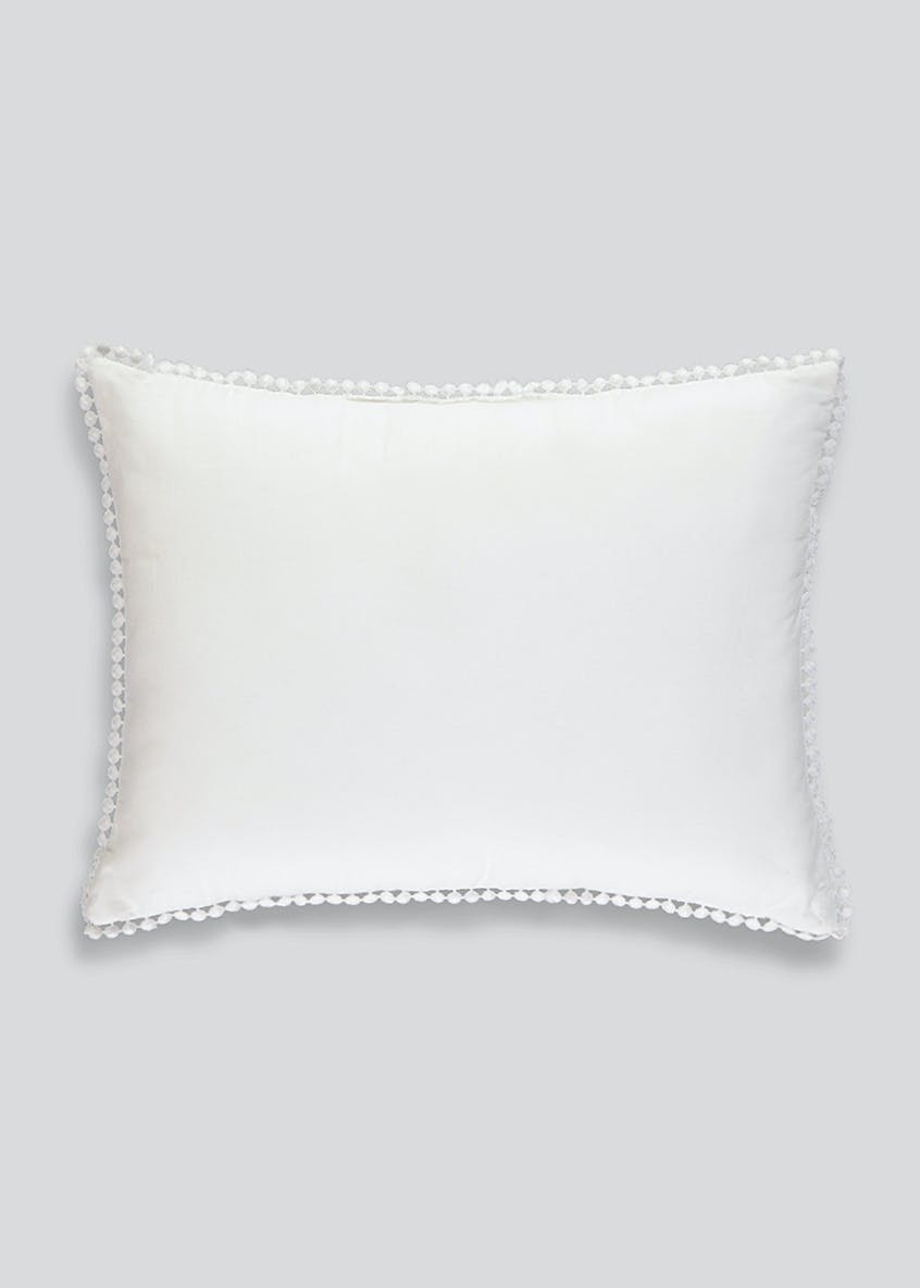 Embroidered Cotton Cushion (40cm x 30cm)